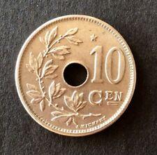 Belgique - Albert Ier - Magnifique  monnaie de 10  Centimes 1930  VL - étoile