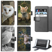 ANIMAL OWL PHONE CASE IPHONE 6,7,8 PLUS, X LEATHER FLIP CASE COVER FOR APPLE