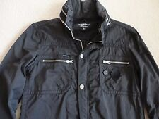 "VICTOR & ROLF ""MONSIEUR"" Black Cotton Blend Zip Front Jacket M/L"