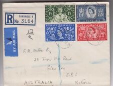 Stamps Great Britain 1937 Coronation set of 4 on plain FDC registered Cambridge