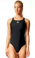 Adidas Infinitex Esencia Core 3 Rayas Mujer `S Negro/Blanco Bañador BP5435 BNWT