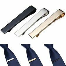 3Pc Set Stainless Steel Slim Skinny Regular Ties Necktie Clasp Mens Tie Clip Bar