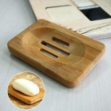 New Natural Bamboo Wood Soap Dish Storage Holder Bath Shower Plate Bathroom Us