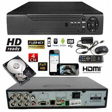 DVR VIDEOSORVEGLIANZA 4 CANALI DISK 500GB REGISTRATORE HARD LAN USB VGA PTZ HDMI