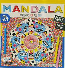 Kinder Mandala Malbuch party time 24 Motive Ausmalen Malen Designs Spiel Spaß