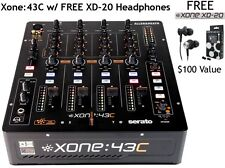 ALLEN AND HEATH XONE 43C 4 CHANNEL DJ MIXER SERATO DJ READY. FREE XD-20 EARBUDS