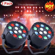 2x 15W Sound Active DMX RGBW LED Par Stage Effect Lighting Spotlight Disco Party