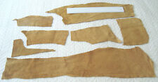 TAN COW SUEDE LEATHER REMNANTS -  #2998 - REPAIRS, LARP, ELBOW PATCHES
