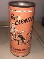 RARE Antique Regal Carmel-ets King of Caramel Candy Chicago 1 lb Tin