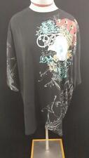 BX Brooklyn EXpress t shirt womens size XL black skull sequins 100% cotton