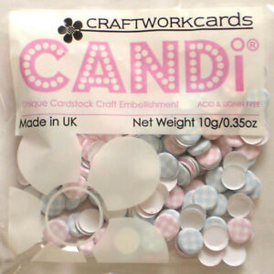 Fantasy Candi - Craftwork Cards - Pale pink and pale blue candi