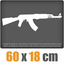 AK 47 Kalaschnikow  chf0466 weiß 60 x 18 cm Heckscheibenaufkleber  Auto Scheibe