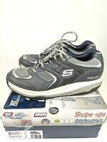 Skechers Shape Ups 52004 Men's Sz 8.5 Toning Walking Shoes Navy/Silver