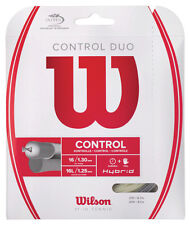 Wilson control duo hybride tennis string set