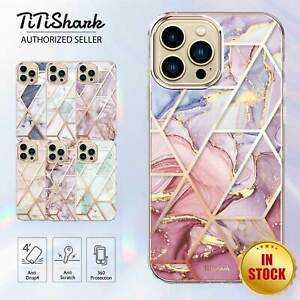 For iPhone 13 12 11 Pro Min XS Max XR SE Case Clear Marble Shockproof Slim Cover
