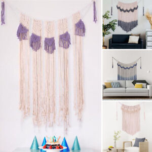 Macrame Handwoven Wall Hanging Tapestry Living Room Backdrop Party Home Decor