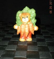 "1988 Lucy & Me Enesco ""Carrot Bunch"" Vegetable Bear Figurine"