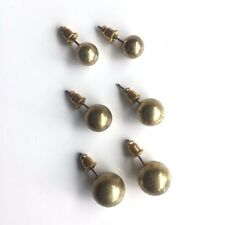 3 x gold 3 x silver Costume 6 different pairs sizes studs: