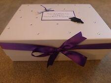 LAUREA BOMBONIERA box scatola dei ricordi TAPPO personalizzato E SCROLL