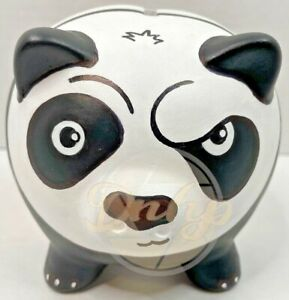 Poe Kung Fu Panda Piggy Bank Custom Made Hand Drawn Painted UK