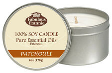Patchouli 6oz All Natural Soy Candle With Pure Essential Oils Fabulous Frannie