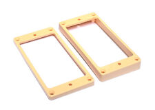 Humbucker Guitar Pickup Mounting Rings • Slanted w/Curved Bottom • Cream