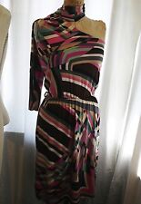 SINEQUANONE Geometric Printed SIlk Jersey One Shoulder Dress