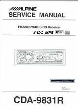 Alpine  Service Manual  für CDA- 9831 R englisch