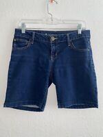 Celebrity Pink Women's Sz 5 Bermuda Denim Shorts Stretch Pockets Blue