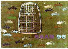 Saab 96 2-Stroke Saloon 1962-63 UK Market Sales Brochure
