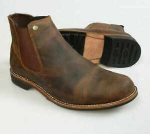 Woodland Men's Crazy Horse Brown Leather Boots