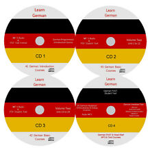 Learn to Speak German,170 Audio & PDF German text Courses on 4 MP3 CD's