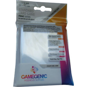 GameGenic Prime Standard Card Sleeves 66 x 91mm (50) Colour Code:Gray/Grey