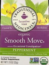 Traditional Medicinals Organic Smooth Move Laxative Tea Peppermint Caffeine Free