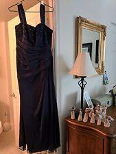 Jade by Jasmine formal dress. Navy blue, size 10. Long with Beaded bodice.
