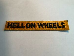 Hell On Wheels Tab US Army Patch