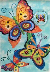 "Flutterbye Butterfly Outdoor Garden Flag by Evergreen 14"" x 18"", #6067"