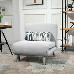 Futon Sofa Bed 1 Person Sleeper Foldable Portable Pillow Lounge Couch Furniture