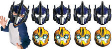 Transformers Party Masks X 8 Birthday Boys Decorations Supplies