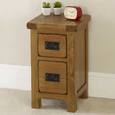 Oak 56cm-60cm Bedside Tables & Cabinets with 2 Drawers