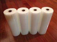 "4 Roll 11""X50' Vacuum Sealer Bag 4mil Embossed Storage Bag for FoodSaver Machine"