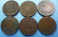 6 Coins  Two Cent Coin  Collection     #62CCC