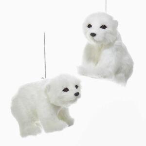 Plush Polar Bear Ornament