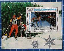 """Mauritania: Michel Block-N. 69 """"Olimpo. giochi inverno' 88"""", 1987, GEST. M. GOMMA"""