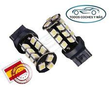2 X BOMBILLAS LED CANBUS T20 7440 W21W 27 SMD 5050 BLANCO COCHE MOTO