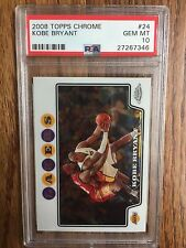 Pristine 2008 Topps Chrome Kobe Bryant #24 PSA 10 GEM MINT BGS RC LeBron James