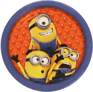 16 Stück Minions Pappteller Set 23 cm Teller Party Geschirr