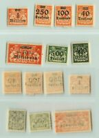 Danzig 1923 SC 137, 140-143 MNH, 138, 139 mint, non 1921-1930. e6102