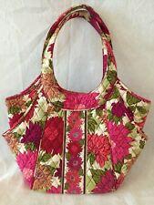 Vera Bradley Frill Hello Dahlia Angle Tote Side by Side Purse Handbag