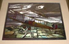"""AVRO 405K DEFENDING AGAINST ZEPPELINS 1918 WAR PLANES FIGHTERS FRAMED 10""""X8"""""""